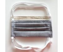 Bavlnené rúško s gumičkou - s otvorom na vkladanie filtra - MIX vzorov