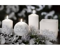 Lampión Christmas Angels kváder sviečka