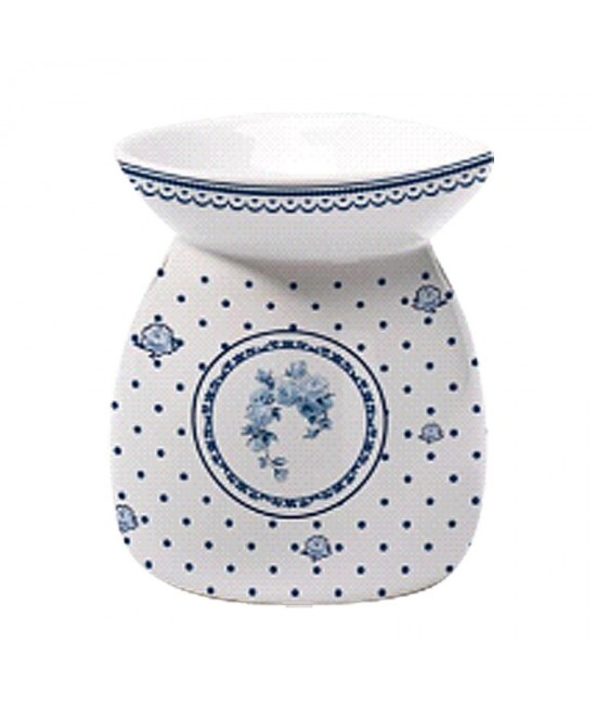 Aromalampa Modrá ruža porcelán