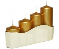 Adventné sviece metalické zlaté postupné