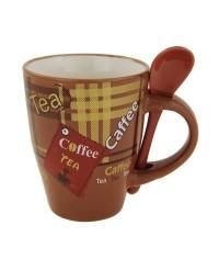 Coffee 0,3l hrnček s lyžičkou porcelán