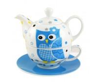 Sova Evička porcelán čajová súprava pre 1 osobu