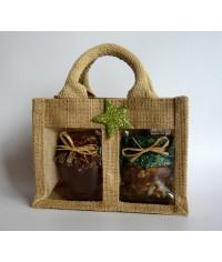 Darčekový balíček - Jutová taška na 2 ks medu