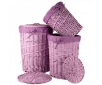 Kôš prádlový fialový 29500 S3 - sada 3 ks