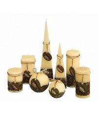 Rustic Káva svetlá sviečka