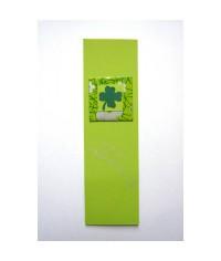 Záložka do knihy Zelená - štvrolístok