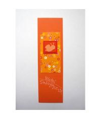 Záložka do knihy Oranžová - motýlik