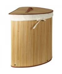 Bambusový kôš-rohový prírodný