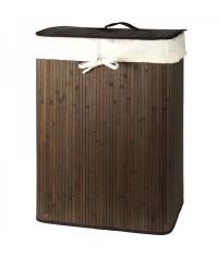 Bambusový kôš prádlový hnedý