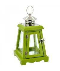 Lampáš drevený šikmý - zelený