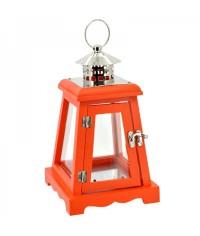 Lampáš drevený šikmý - oranžový