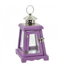 Lampáš drevený šikmý - fialový