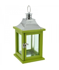 Lampáš drevený obdĺžnikový - zelený