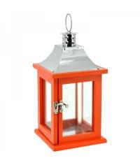 Lampáš drevený obdĺžnikový - oranžový