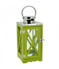 Lampáš drevený s krížom - zelený