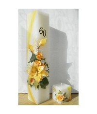Jubilejná sviečka Kváder + kocky