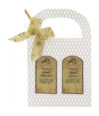 Darčeková taška zlatá - Anjel priateľstva