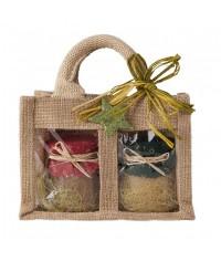 Darčekový balíček - Ochutený med v jutovej taške