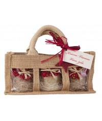 Darčekový balíček - Ochutený med 3 x  v jutovej taške
