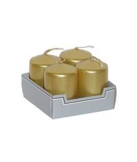 Adventné sviečky 4/40/60 metalik (balíček 4 ks)
