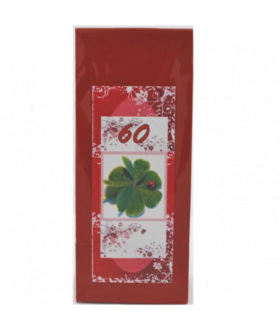 Darčekový čaj 60. narodeniny 4lístok