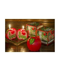 Dvoj-jabĺčko sviečka s prekvapením