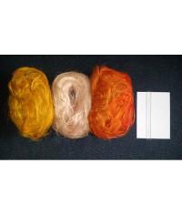Dekoračné vlákno oranžové