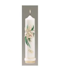 Svadobná 700 gram Orchidea sviečka