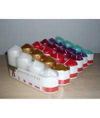 Adventné sviečky postupné 4/60-75-90-105 metalik