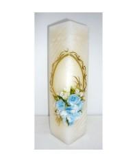 Jubilejná sviečka kváder Modré kvety