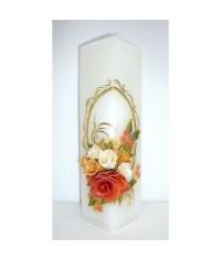 Jubilejná sviečka kváder Oranžové kvety