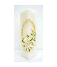 Jubilejná sviečka kváder Krémové kvety