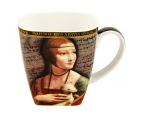 Hrnček Da Vinci Mona Lisa porcelán
