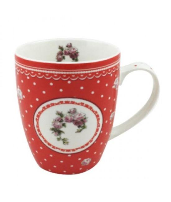 Hrnček Červená ruža 0,35l porcelán