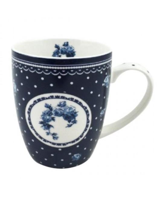 Hrnček Modrá ruža 0,35l porcelán