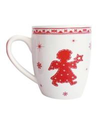 Hrnček biely Čaro Vianoc 0,35 l keramika