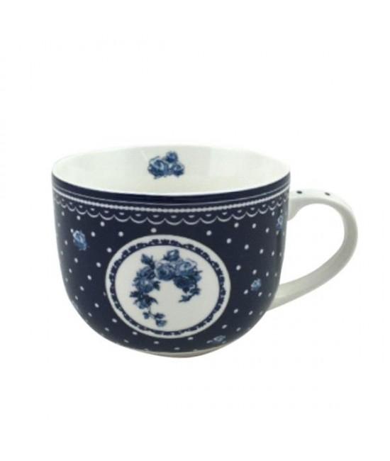 Hrnček Modrá ruža 0,5l porcelán