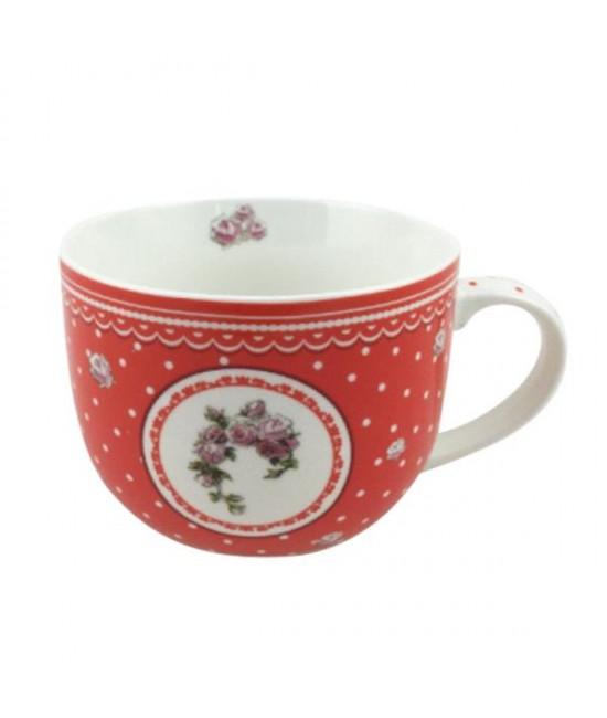 Hrnček Červená ruža 0,5l porcelán