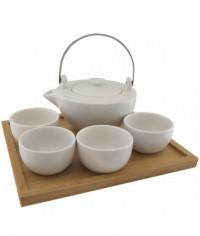 Bambo Biela porcelán čajová súprava
