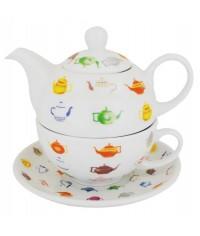 Čajníčky porcelán čajová súprava pre 1 osobu