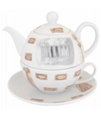 Cats porcelán čajová súprava pre 1 osobu