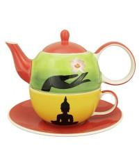 Jataka keramika čajová súprava pre 1 osobu