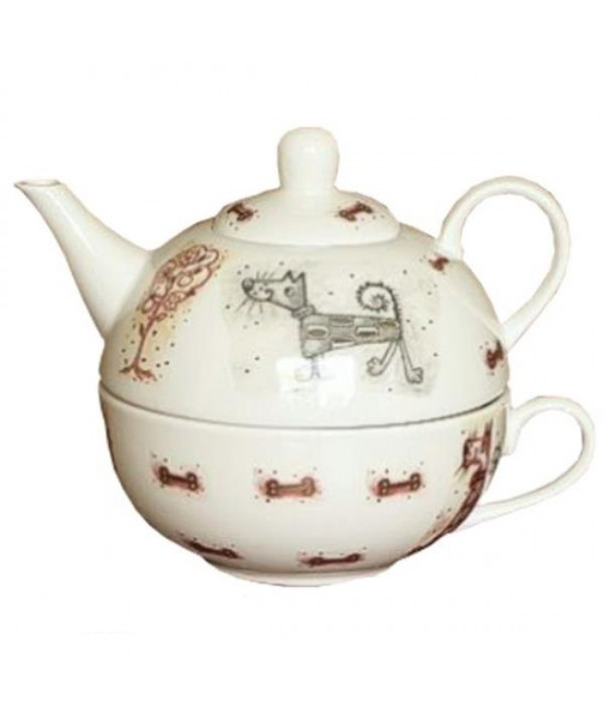 Strážca porcelán čajová súprava pre 1 osobu