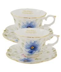 Iris porcelán čajová súprava pre 2 osoby