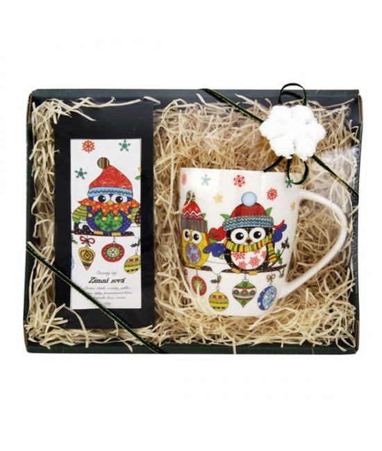 Darčekový balíček Vianočná sovička-zelený