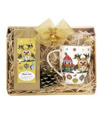 Darčekový balíček Vianočná sovička - zlatý
