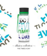 Fľaša EQUA Five Times a Day, 600 ml