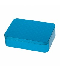 Plechová dóza Lily modrá 142 x 101 x 31 mm