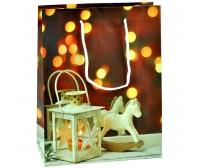 Darčeková papierová taška - lampáš s koníkom