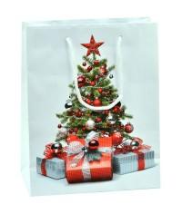 Darčeková papierová taška - vianočný stromček